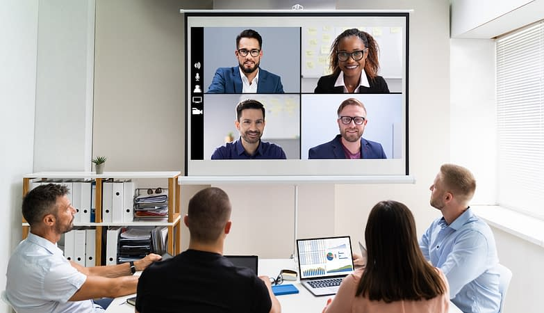 Online Video Conference Training Business Meeting In Office